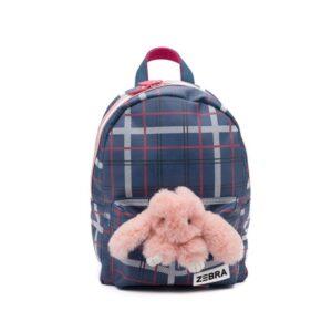 Zebra Trends Backpack M Bunny Check Blue-0