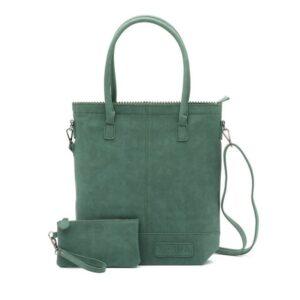 Zebra Trends Natural Bag Kartel Shoulder Green-0