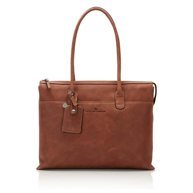 Castelijn & Beerens Carisma Laptop/Shoulderbag 15-inch Cognac-0