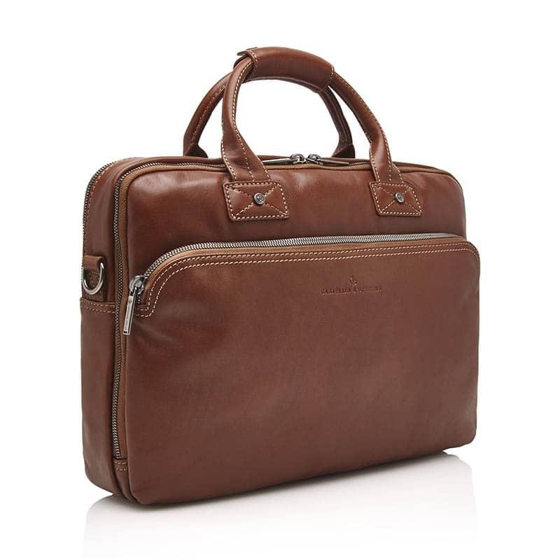 Castelijn & Beerens Firenze Businessbag 15-inch Light Brown-182004