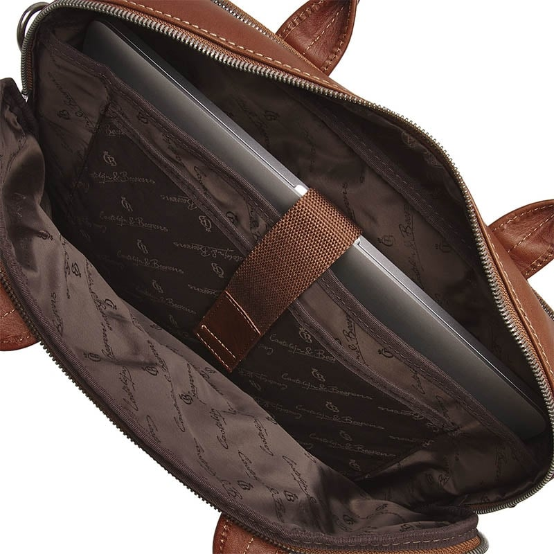 Castelijn & Beerens Firenze Businessbag 15-inch Light Brown-182006