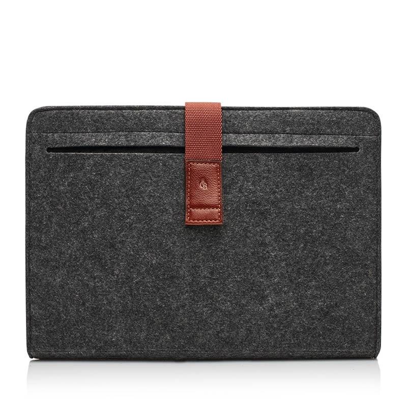 Castelijn & Beerens Laptopsleeve 15-inch Grey/Brown-0