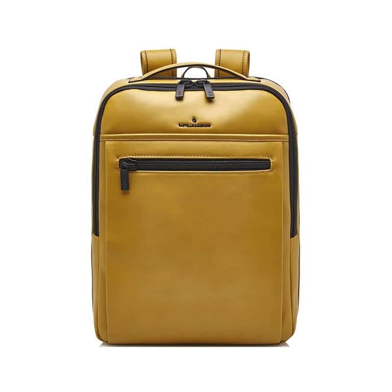 Castelijn & Beerens Victor Laptop Backpack 15-inch Yellow-0