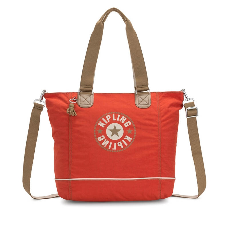 Kipling Shopper C Funky Orange Bl-0