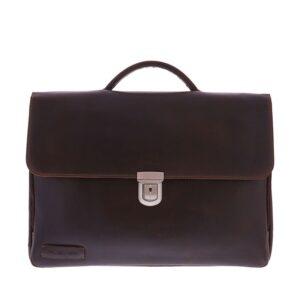Plevier Vintage Oxford Businessbag 15-inch Brown-0