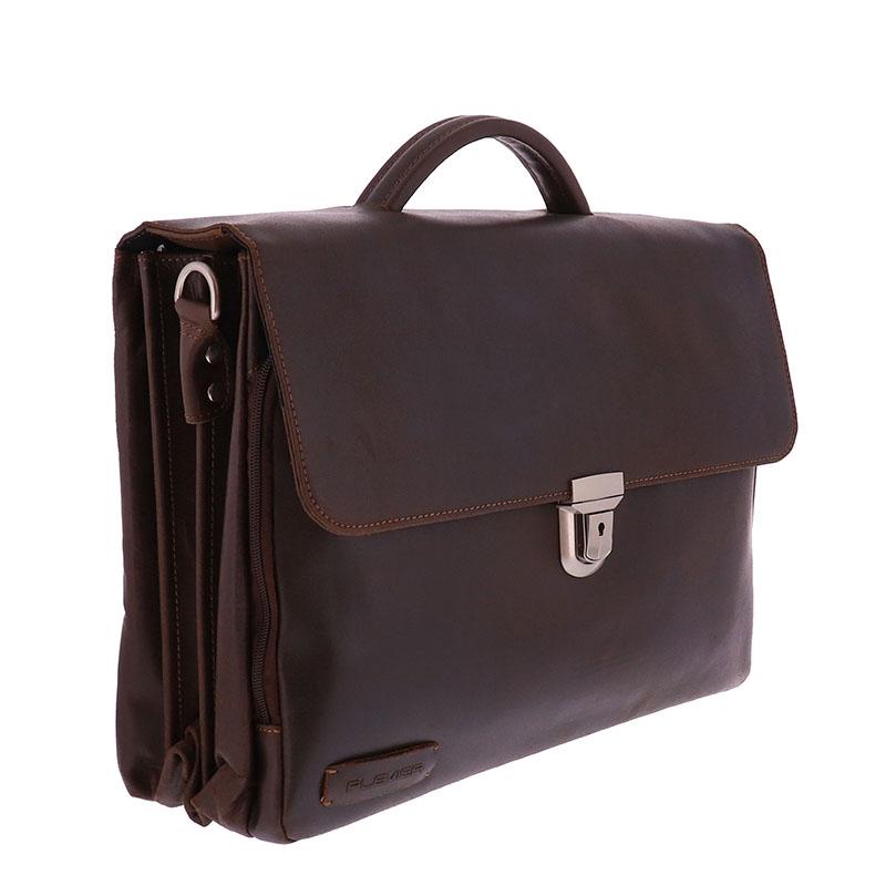 Plevier Vintage Oxford Businessbag 15-inch Brown-181635