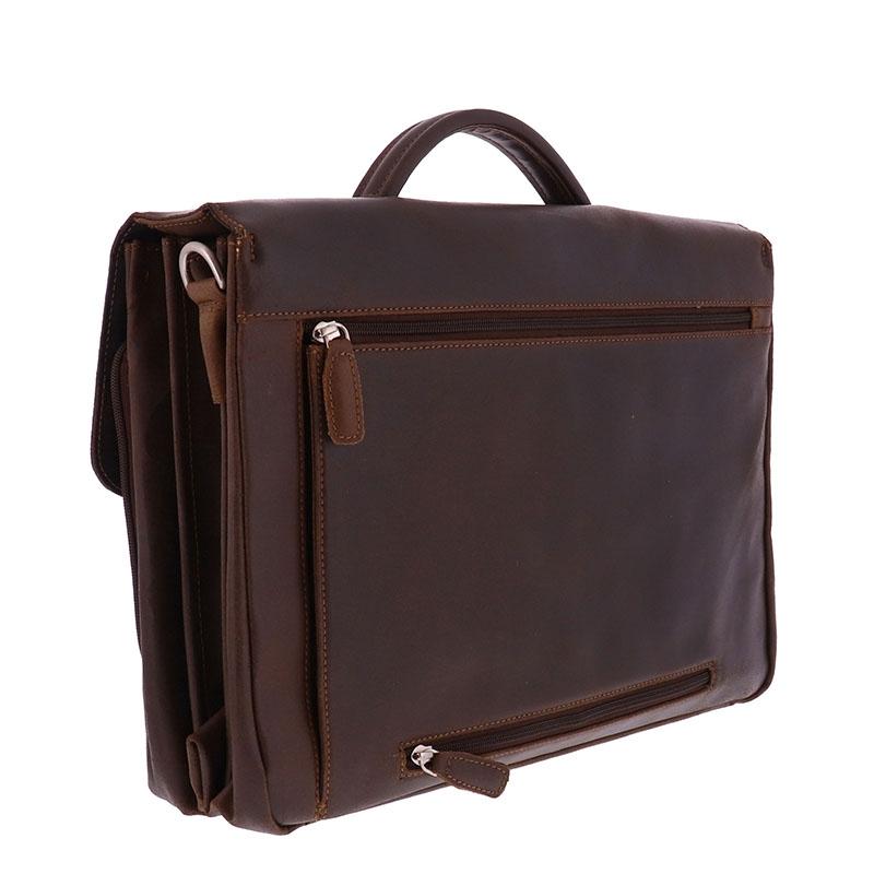 Plevier Vintage Oxford Businessbag 15-inch Brown-181636