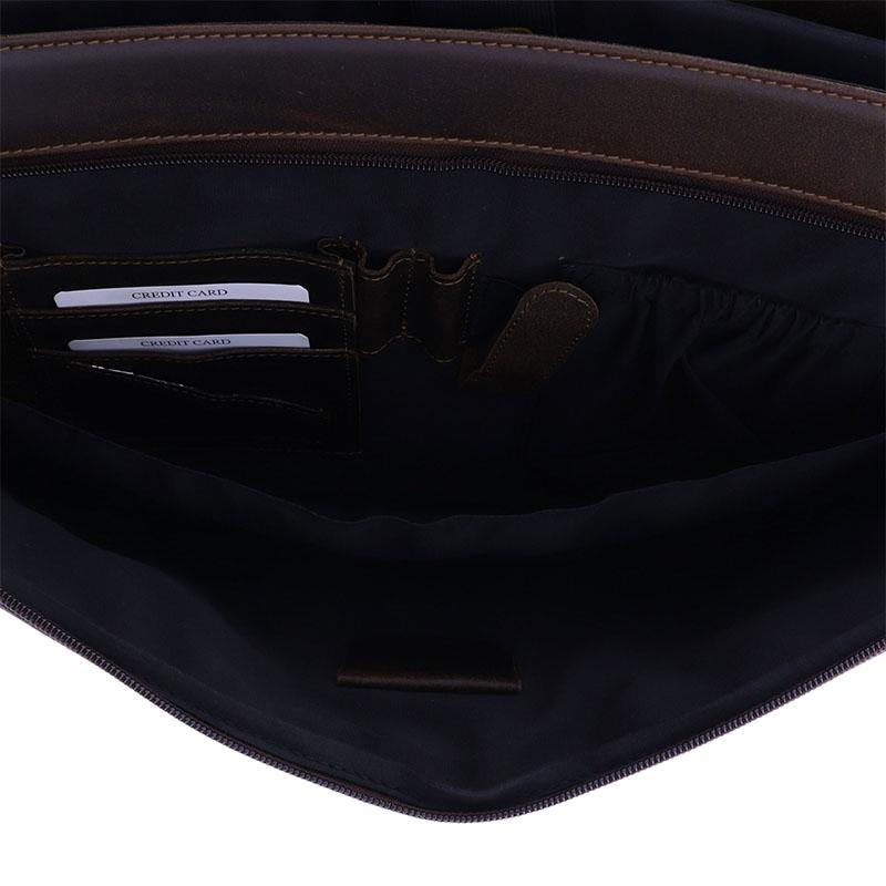 Plevier Vintage Oxford Businessbag 15-inch Brown-181637