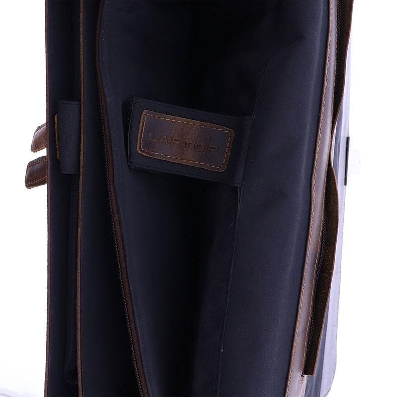 Plevier Vintage Oxford Businessbag 15-inch Brown-181638