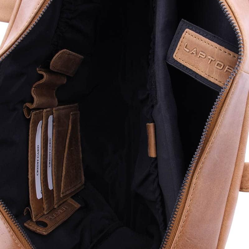 Plevier Pure Dorset 15-inch Shoulderbag/Laptopbag Cognac-181821