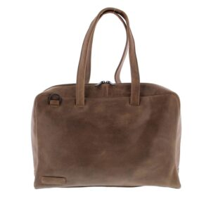 Plevier Pure Dorset 15-inch Shoulderbag/Laptopbag Taupe-0