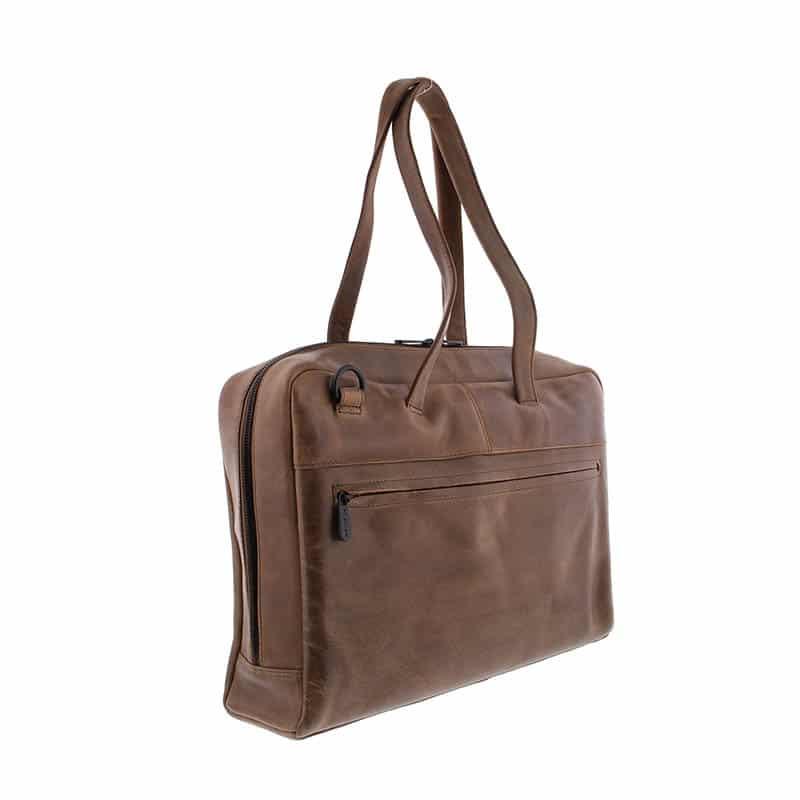 Plevier Pure Dorset 15-inch Shoulderbag/Laptopbag Taupe-181827