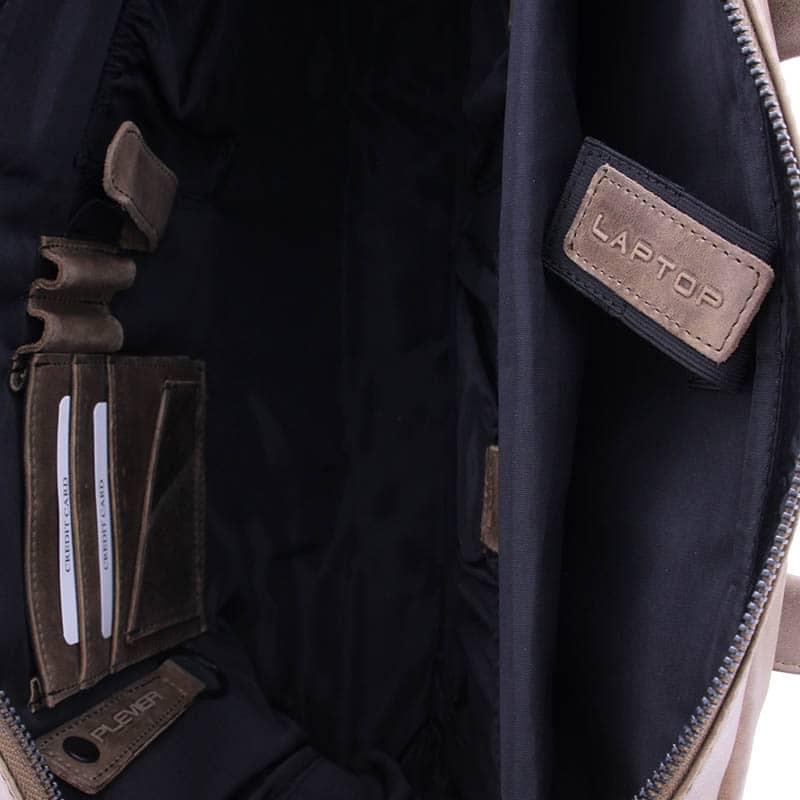 Plevier Pure Dorset 15-inch Shoulderbag/Laptopbag Taupe-181829