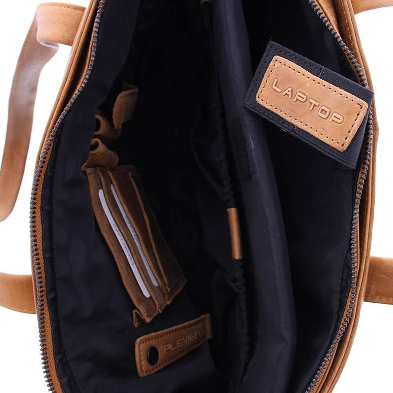 Plevier Pure Rutland Tote/Laptopbag Cognac-181814