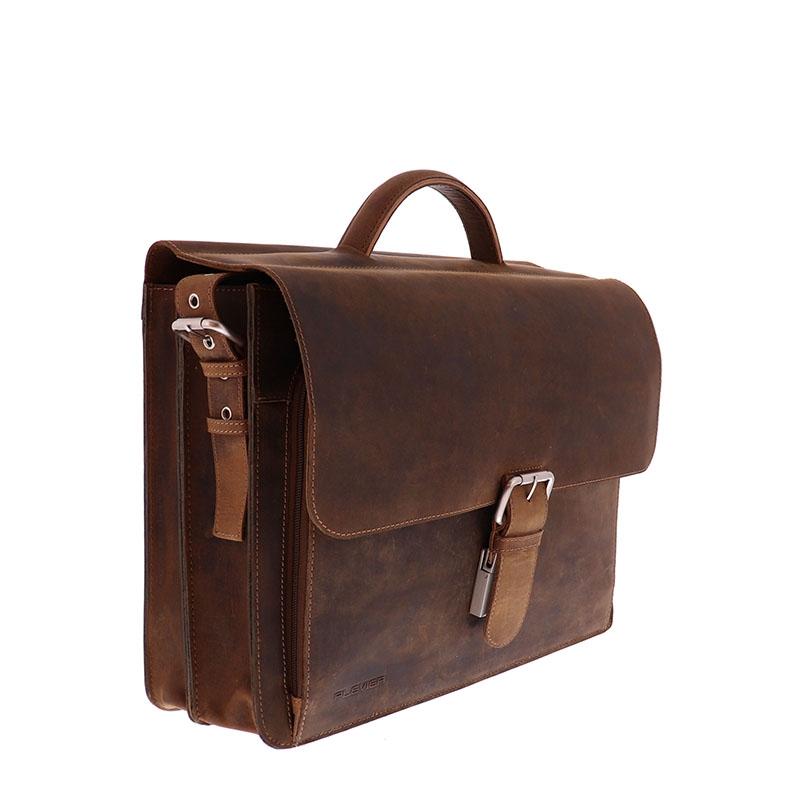 Plevier Retro Darwin Laptopbag 15-inch Brown-181704