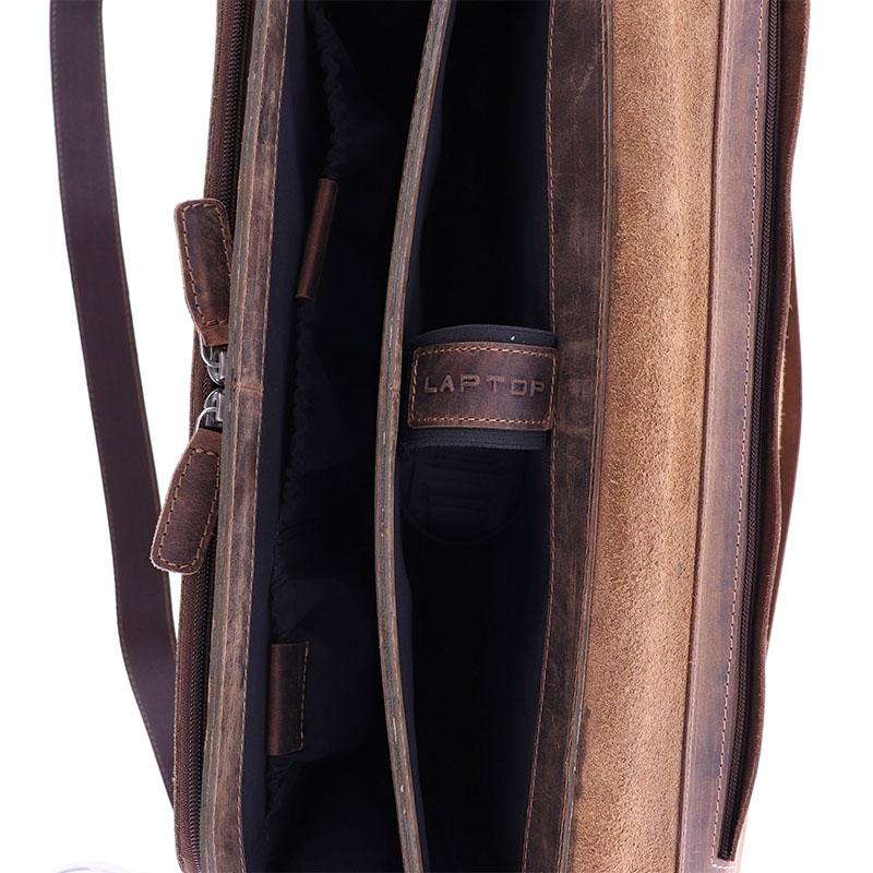 Plevier Retro Darwin Laptopbag 15-inch Brown-181706