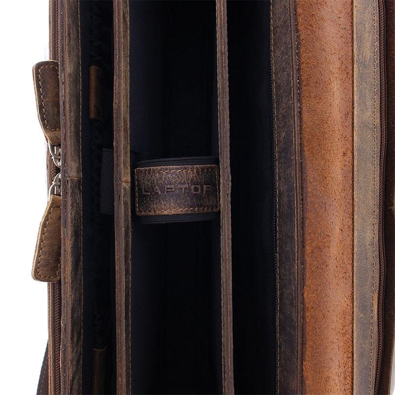 Plevier Retro Newton Laptopbag 15-inch Brown-181714
