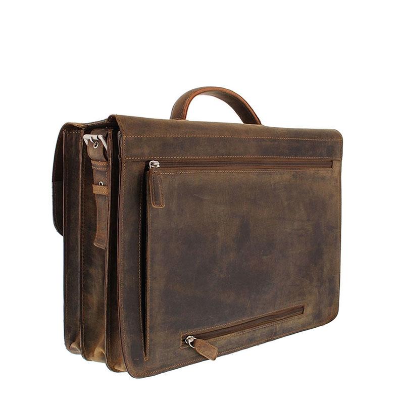 Plevier Retro Zeppelin Laptopbag 17-inch Brown-181720