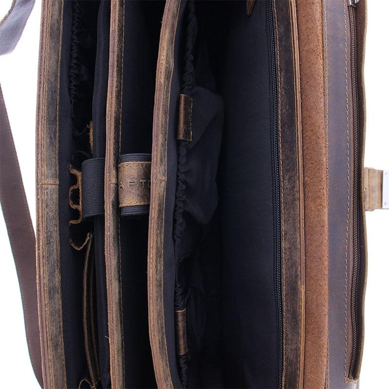 Plevier Retro Zeppelin Laptopbag 17-inch Brown-181722