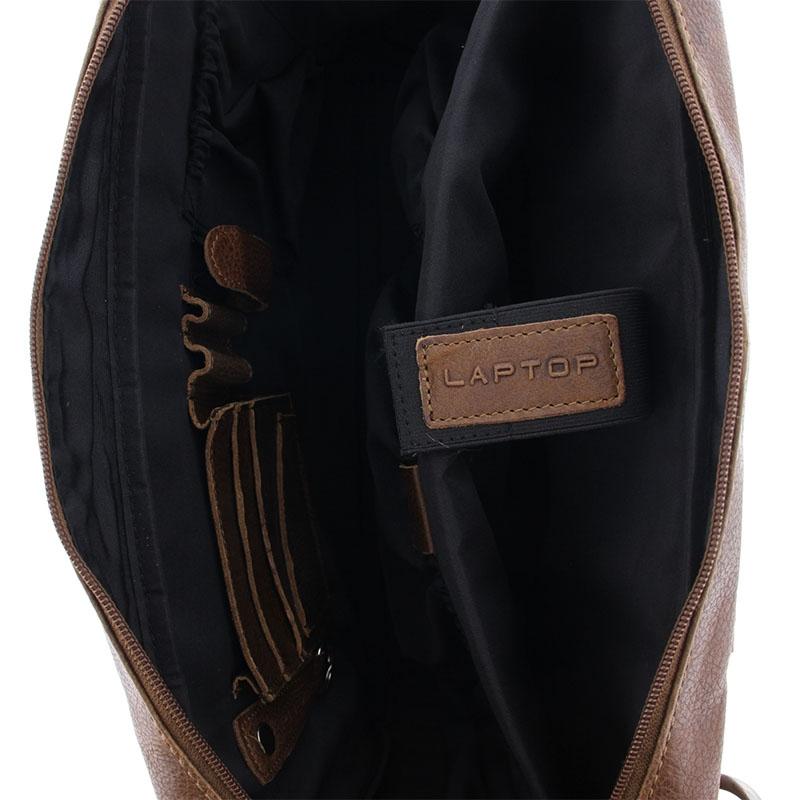 Plevier Urban Surrey 17-inch Laptopbag Cognac-181700