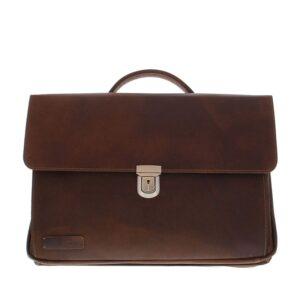 Plevier Vintage Manchester Businessbag 17-inch Brown-0