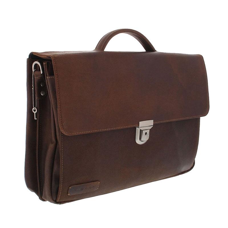 Plevier Vintage Manchester Businessbag 17-inch Brown-181642
