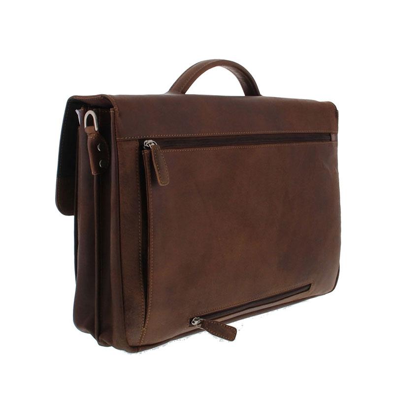 Plevier Vintage Manchester Businessbag 17-inch Brown-181641