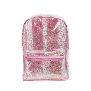 A Little Lovely Company Backpack: Pink/Glitter -0