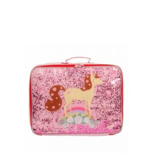A Little Lovely Company Suitcase: Glitter Horse-0