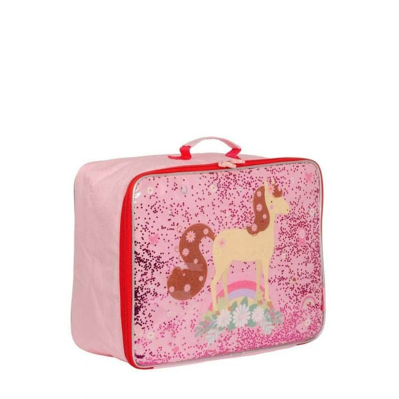 A Little Lovely Company Suitcase: Glitter Horse-182960