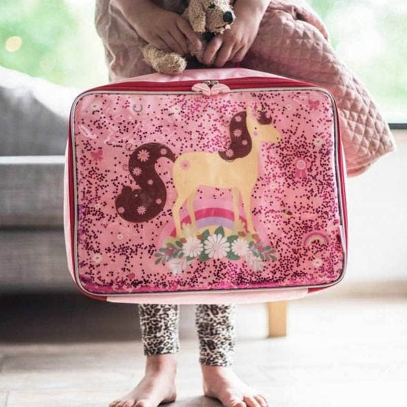 A Little Lovely Company Suitcase: Glitter Horse-182961