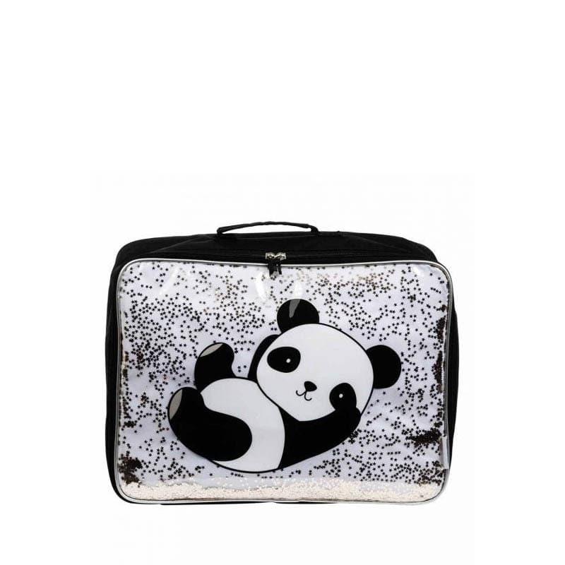 A Little Lovely Company Suitcase: Glitter Panda-0