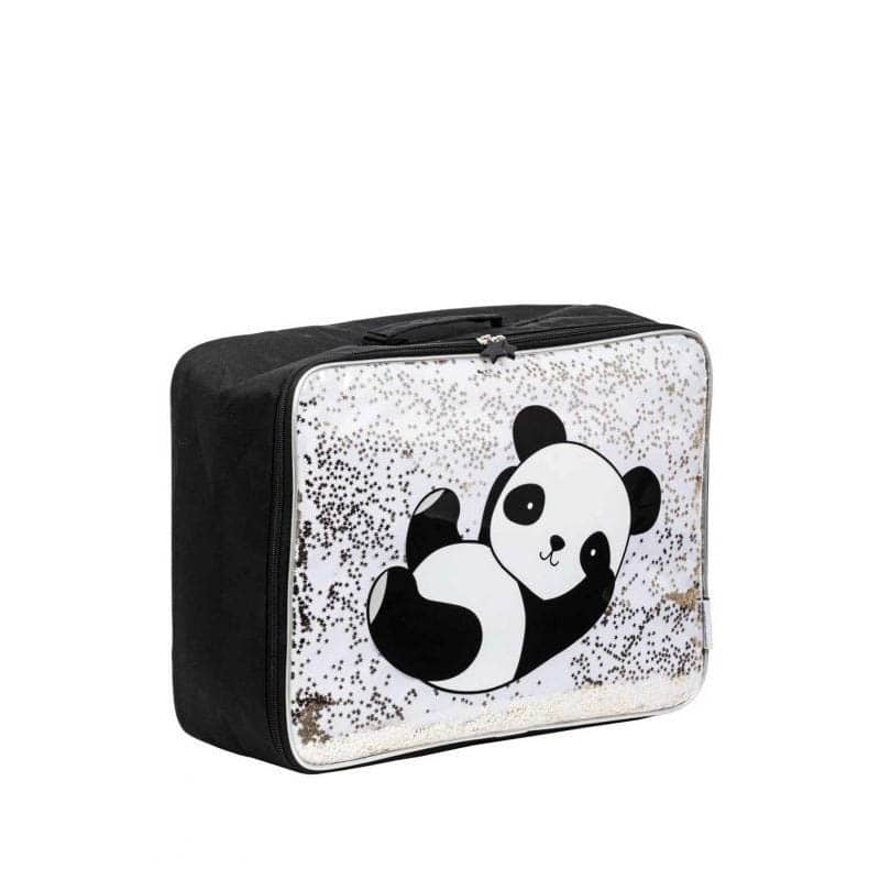 A Little Lovely Company Suitcase: Glitter Panda-182967