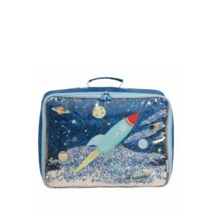 A Little Lovely Company Suitcase: Glitter Space-0