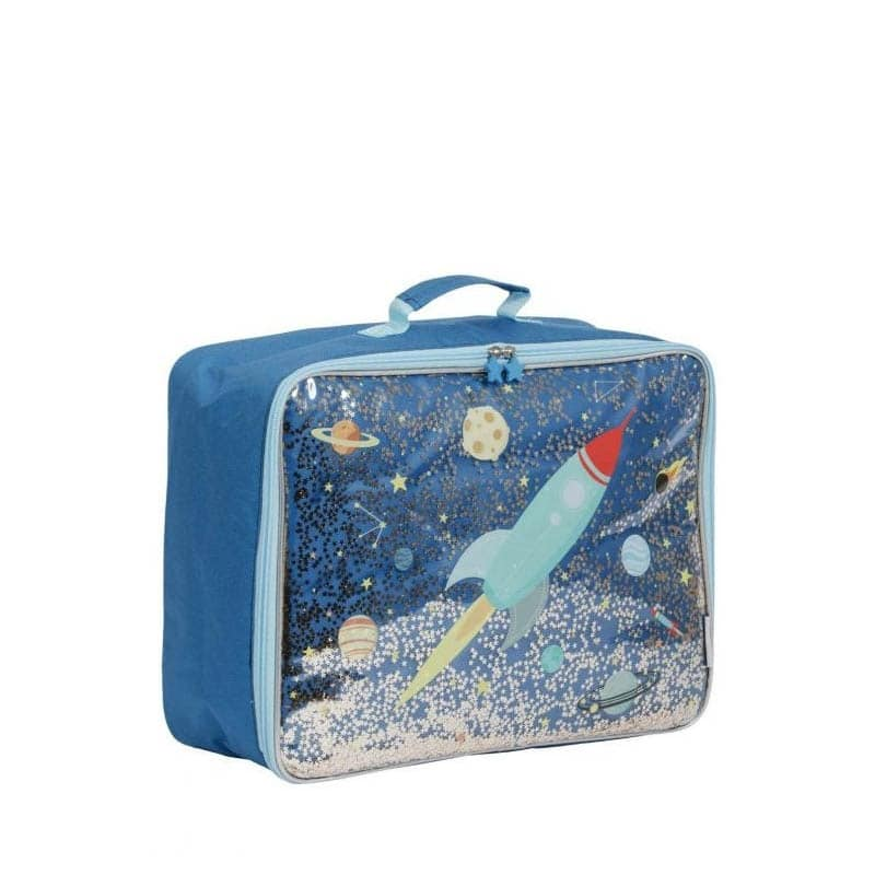 A Little Lovely Company Suitcase: Glitter Space-182966