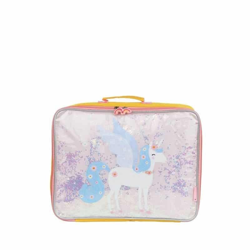A Little Lovely Company Suitcase: Glitter Unicorn-0