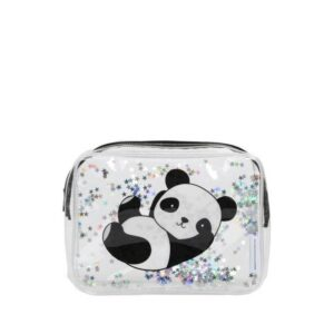 A Little Lovely Company Toiletry Bag: Glitter Panda-0