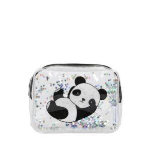A Little Lovely Company Toiletry Bag: Glitter Panda-0