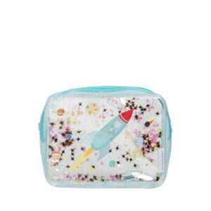 A Little Lovely Company Toiletry Bag: Glitter Space-0