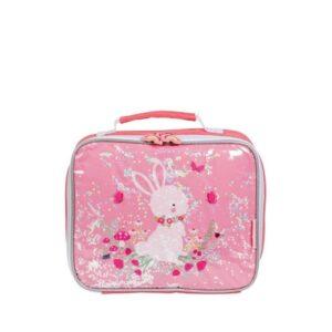A Little Lovely Company Cool Bag: Glitter Bunny-0