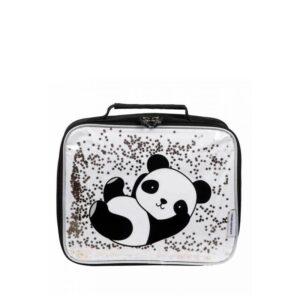 A Little Lovely Company Cool Bag: Glitter Panda-0