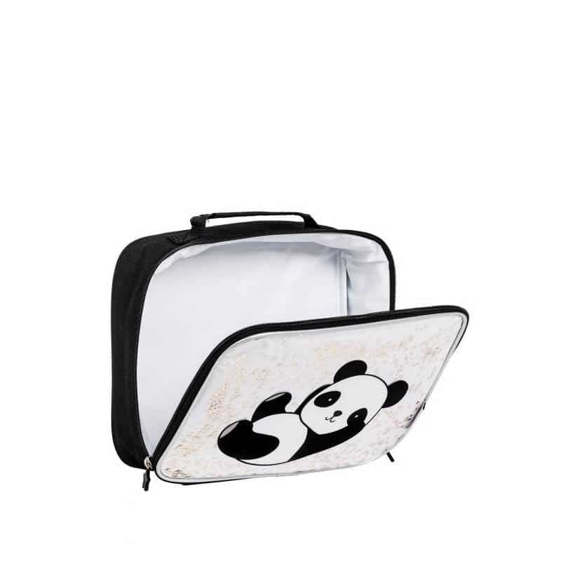 A Little Lovely Company Cool Bag: Glitter Panda-182980