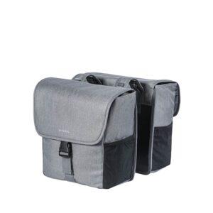 Basil Go Double Bag Grey Melee-0
