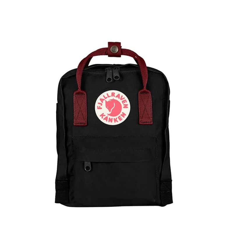 Fjällräven Kånken Mini Backpack Black Ox-Red-0