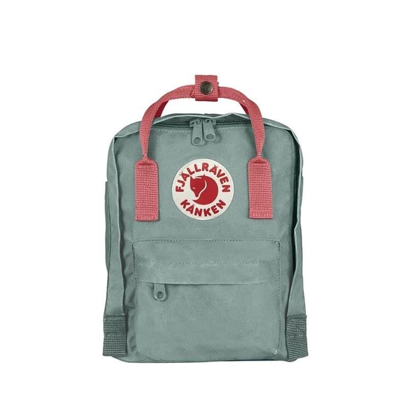 Fjällräven Kånken Mini Backpack Frost Green - Peach-0