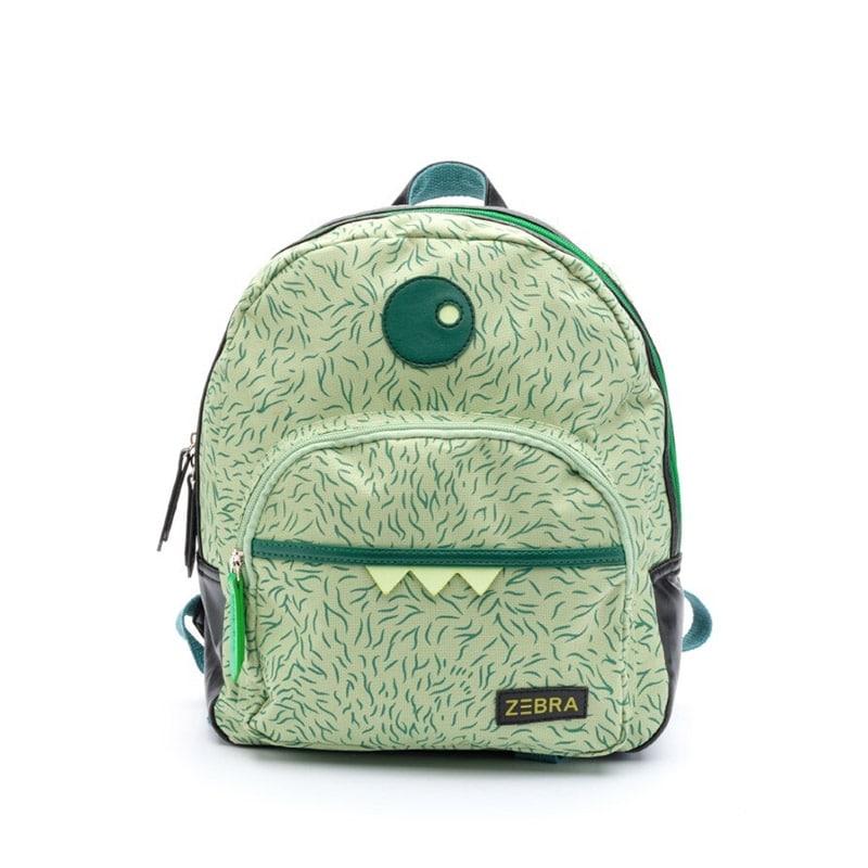 Zebra Trends Backpack Boys Monster Hairy Green-0