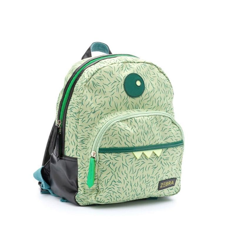 Zebra Trends Backpack Boys Monster Hairy Green-183202