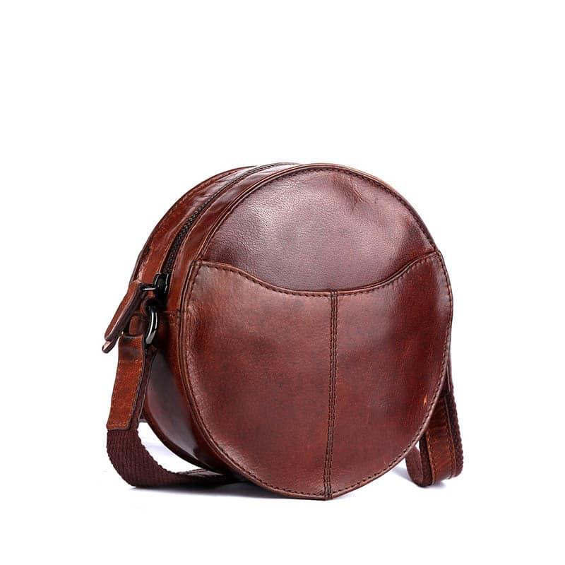 Genicci Carol Round Bag Cognac