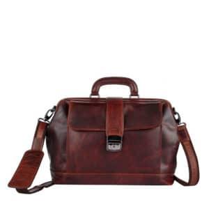 Genicci Francis Doctor Bag Cognac-0