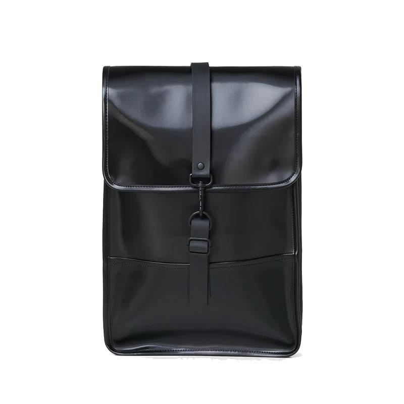 RAINS Backpack Mini Shiny Black-0